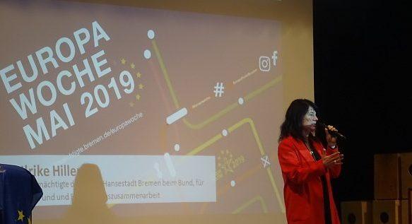 Die Eröffnung der Europawoche 2019 fand in Bremerhaven an der Johann-Gutenberg-Schule statt!